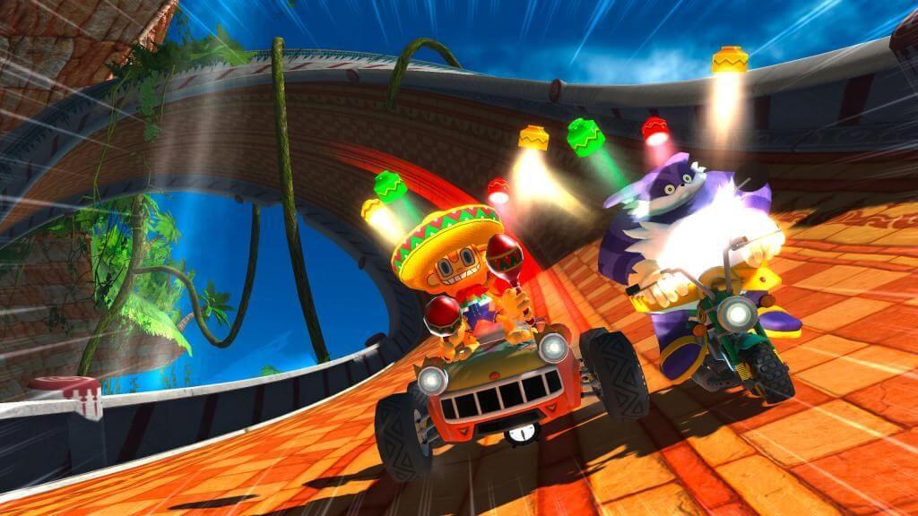 Auf Speed: Sonic & Sega All-Stars Racing gehört zu den Mac-App-Store-Exklusivtiteln und setzt auf Game Center für Mehrspielerpartien. (Bildrechte: SEGA/Feral Interactive)