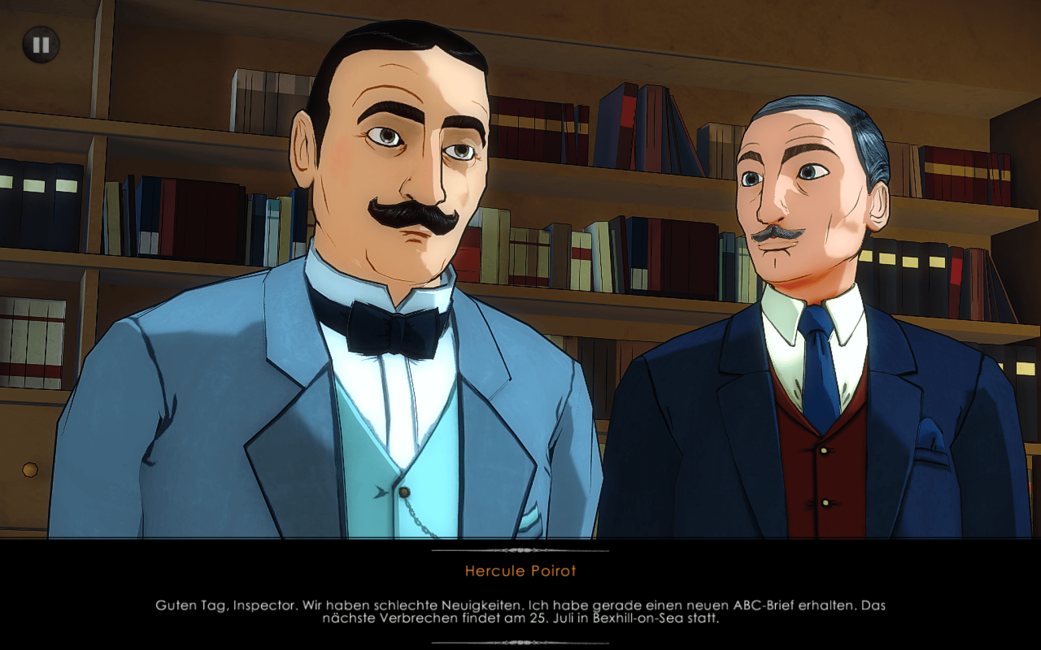 The ABC Murders: Poirot und Hastings teilen dem Chefinspektor ihren Ermittlungsfortschritt mit