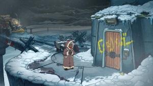 Deponia Doomsday: Eingang zum Bomben-Turm (Bildrechte: Daedalic Entertainment)