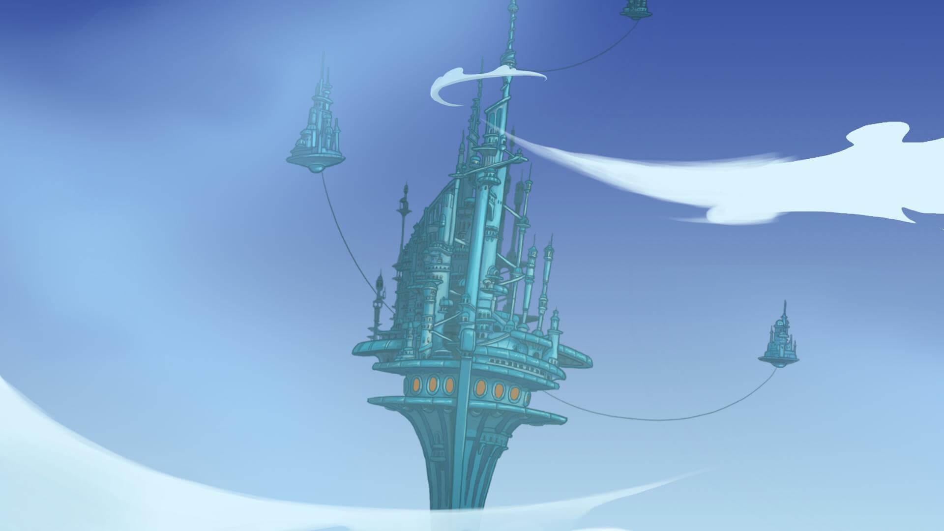 Deponia Doomsday: Die fliegende Stadt Elysium (Bildrechte: Daedalic Entertainment)
