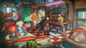 Deponia Doomsday: Alle verrückt hier? (Bildrechte: Daedalic Entertainment)