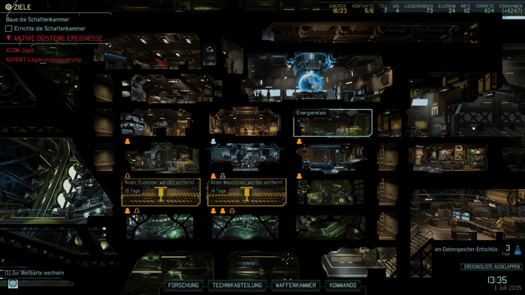 Wer zuwenig Ingenieure hat, kommt beim Basisausbau in XCOM 2 nicht voran. ausgebremst.