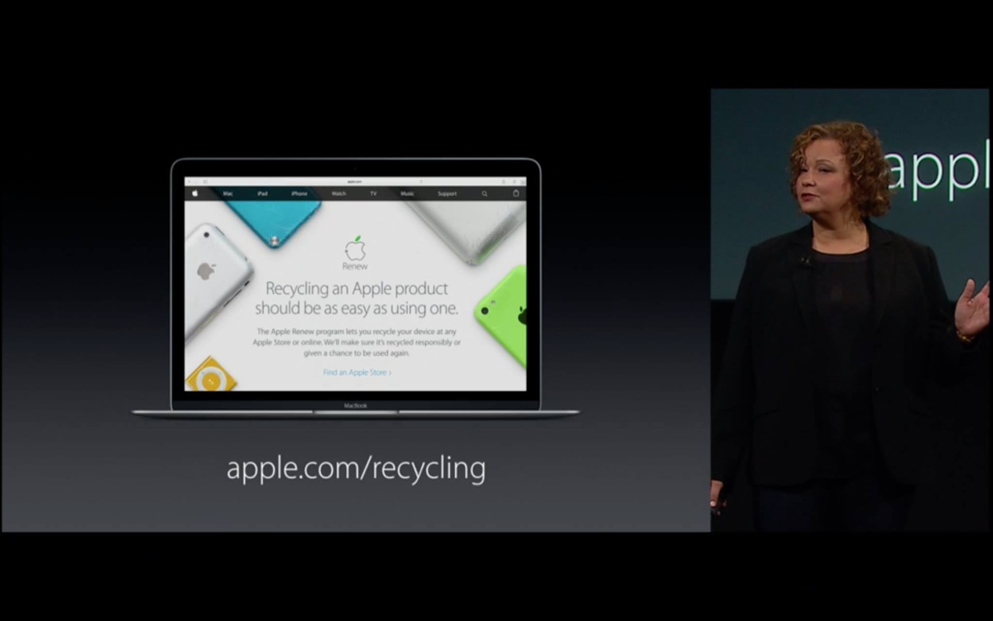 Apple Recycling mit Lisa Jackson