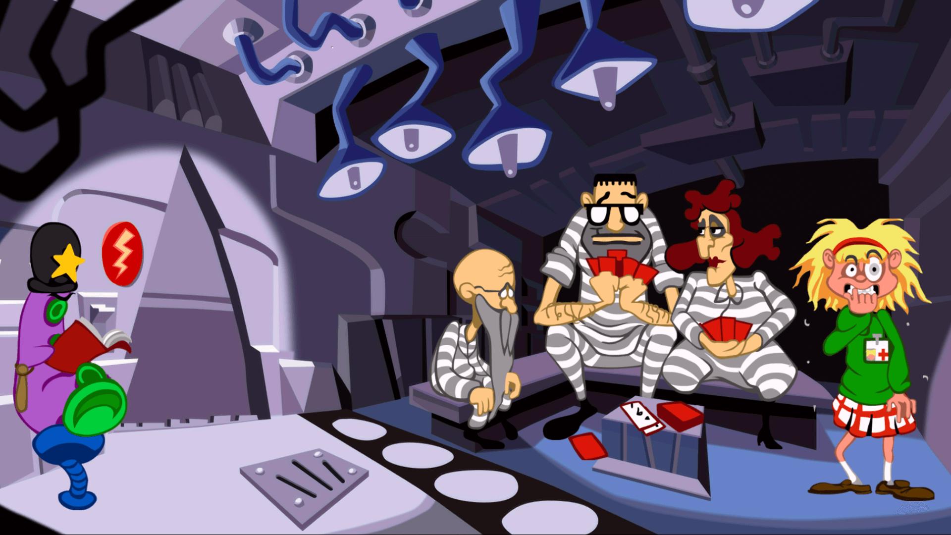 Day of the Tentacle Remastered: Die Zukunft sieht wenig rosig, sondern eher purpur aus (Bildrechte: Double Fine Productions)