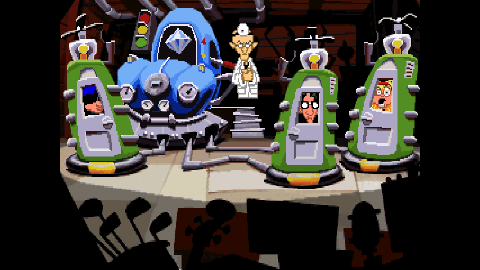 Day of the Tentacle Remastered: eine Szene aus dem Original (Bildrechte: Double Fine Productions)