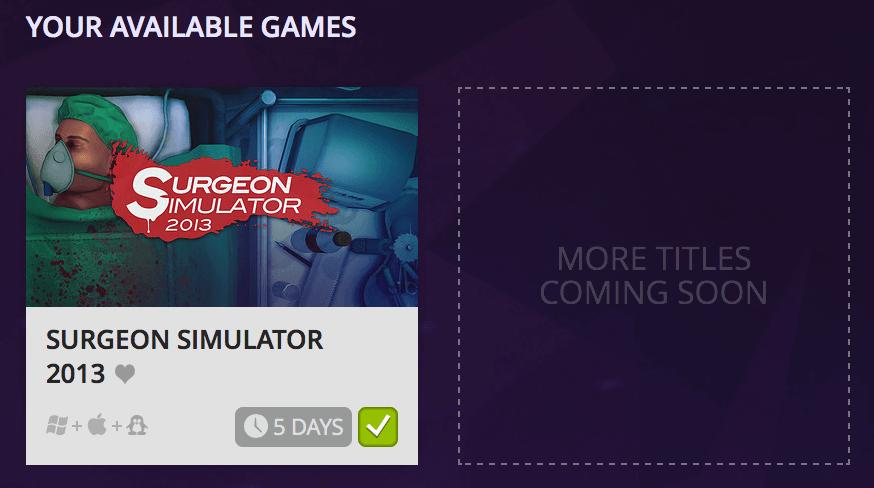 Surgeon Simulator 2013 steht über GOG Connect zum Import zur Verfügung – aber nur für 5 Tage