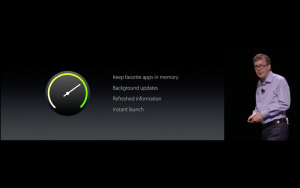 WWDC: watchOS 3 bringt vor allen Dingen Performance-Verbesserungen mit (Screenshot aus Apples Lifestream)