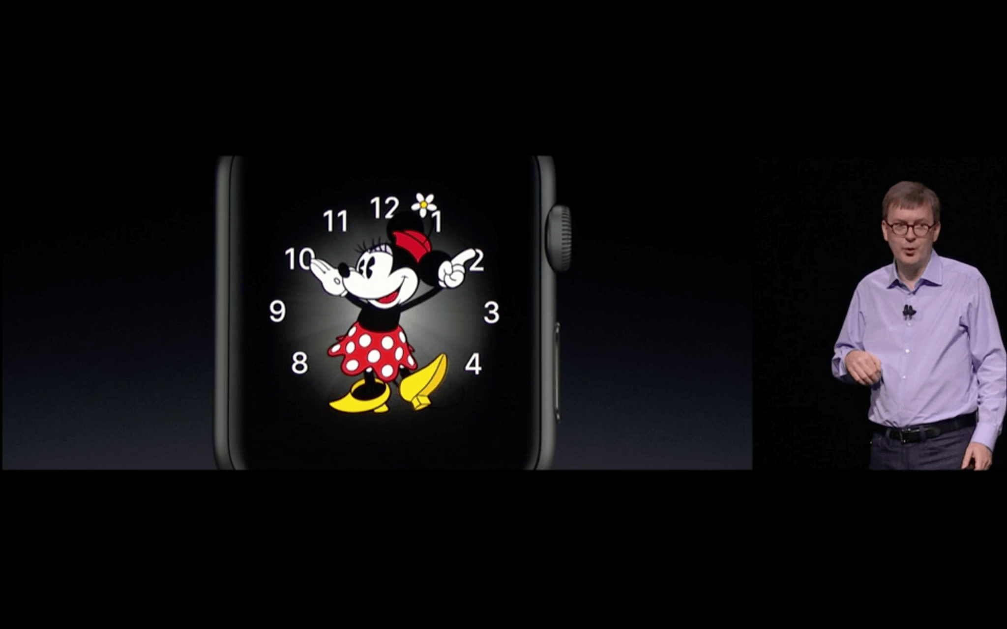 WWDC: Minnie kommt auf die Apple Watch (Screenshot aus Apples Livestream)