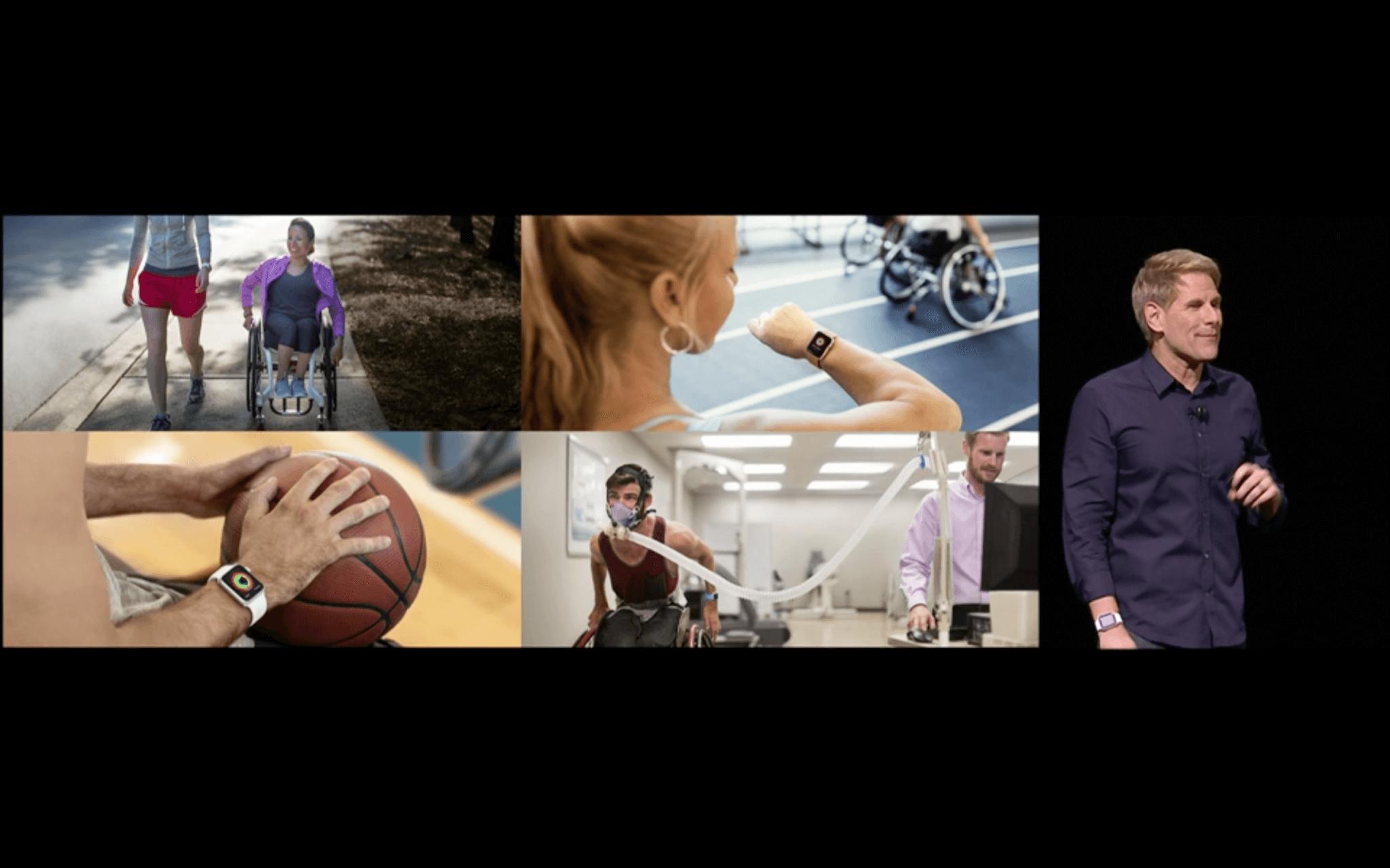 WWDC: Apple passt das Aktivitätstracking der Apple Watch für Rollstuhlfahrer an (Screenshot von Apples Lifestream)