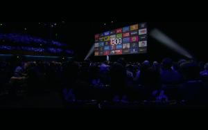 WWDC: Derzeit gibt es 1300 Videokanäle für Apple TV (Screenshot von Apples Lifestream)