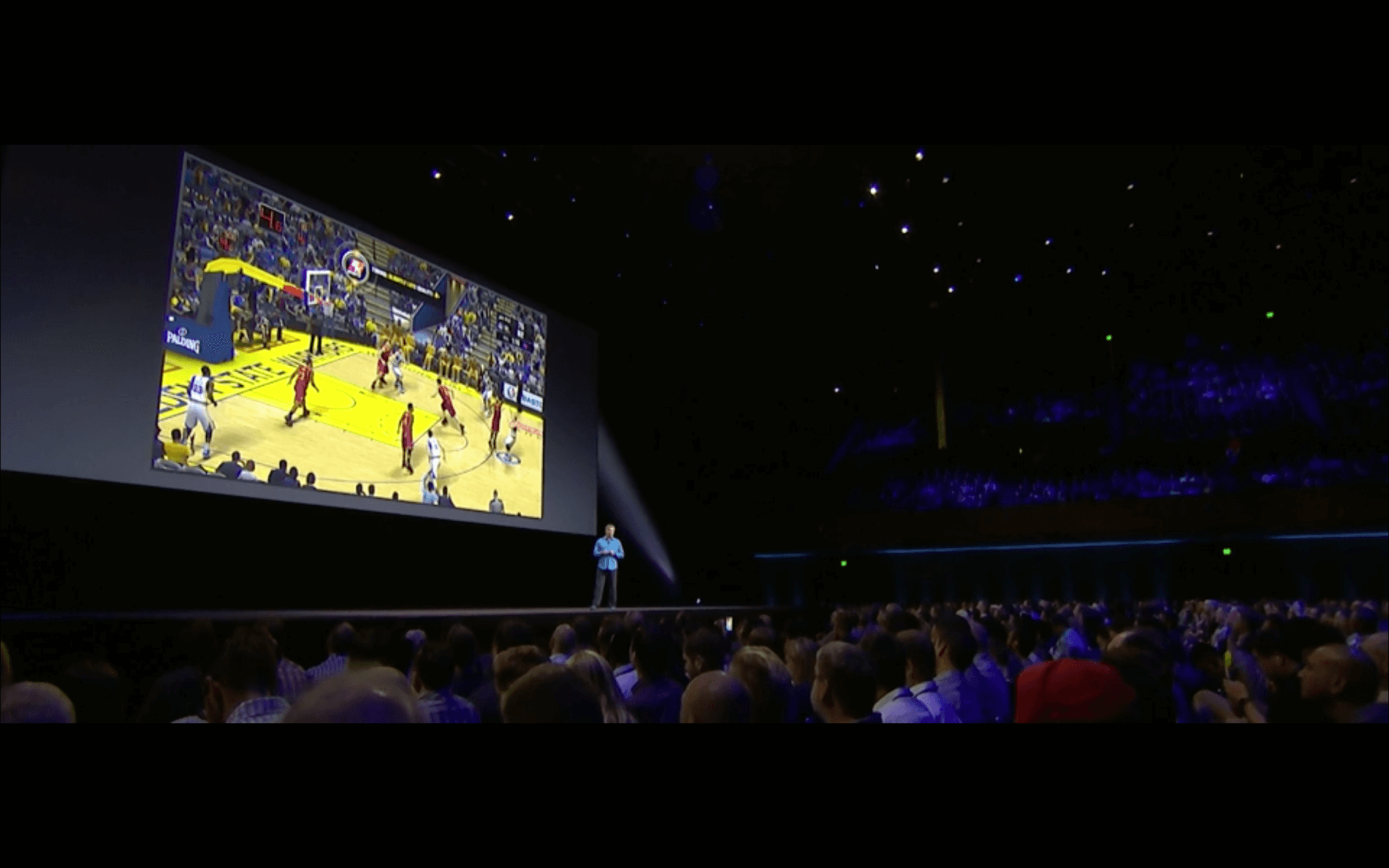 WWDC: NBA 2k kommt für s Apple TV (Screenshot von Apples Lifestream)