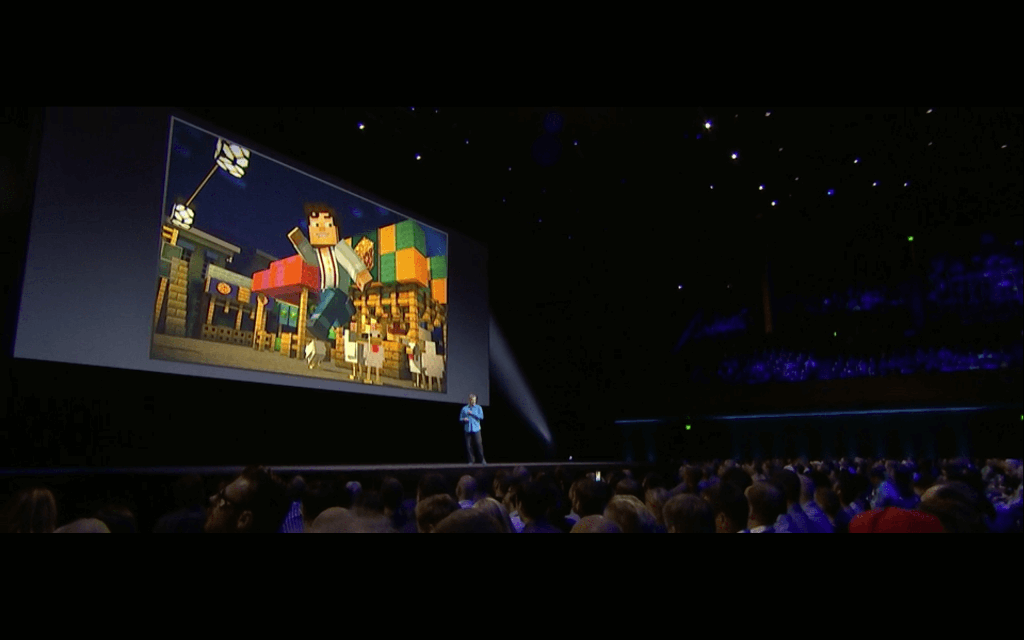 WWDC: Telltale bringt Minecraft: Story Mode aufs Apple TV (Screenshot von Apples Livestream)