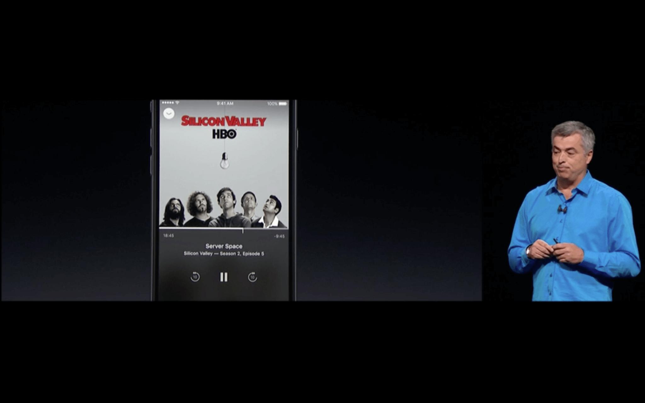 WWDC: Die Remote-App zur Fernbedienung des Apple TV wird komplett überarbeitet (Screenshot von Apples Livestream)
