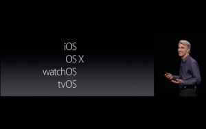 WWDC: OS X passt da nicht so richtig rein (Screenshot von Apples Livestream)