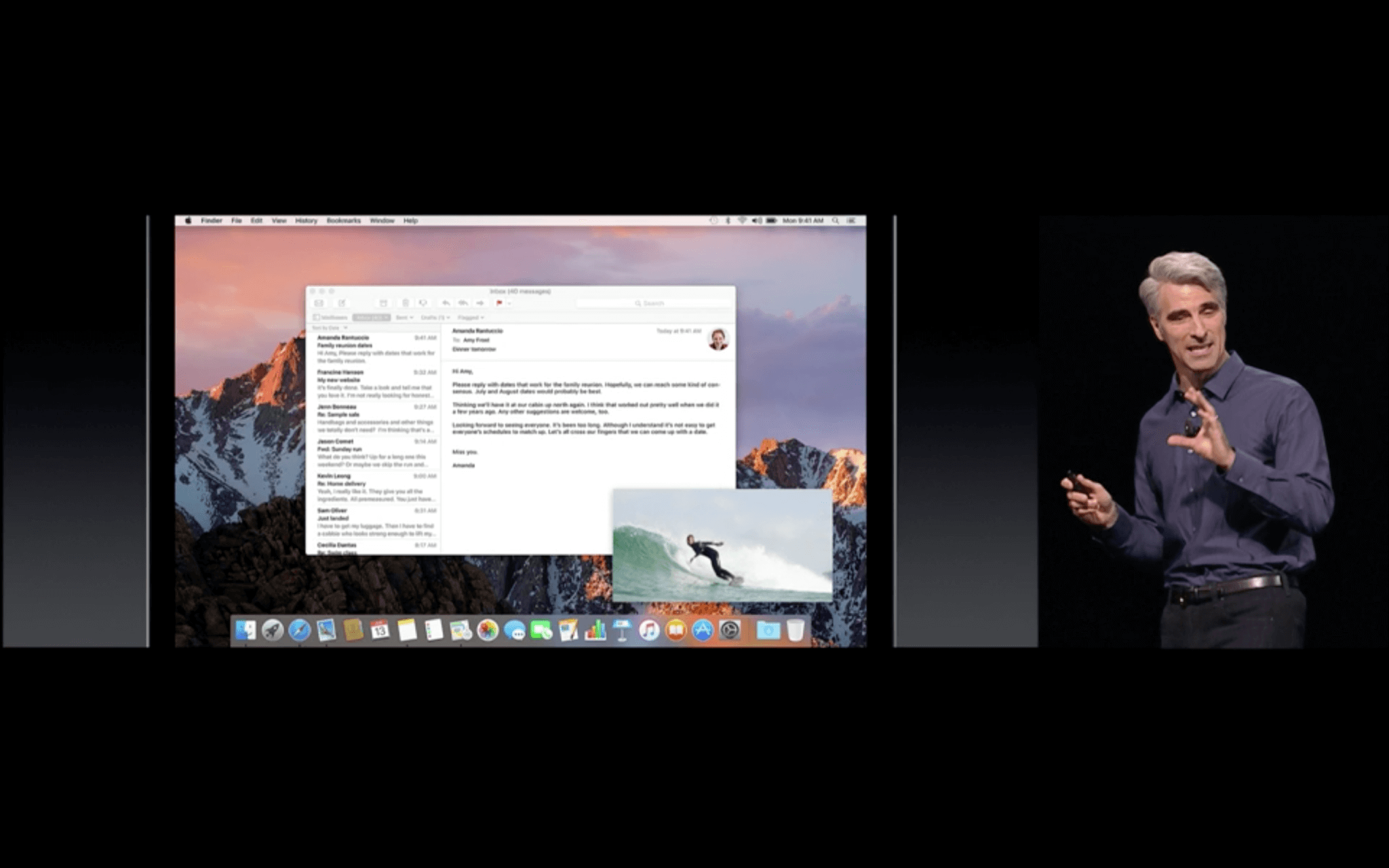 WWDC: Picture-in-Picture auf dem Mac (Screenshot von Apples Livestream)