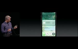 WWDC: 3D Touch im Control Center (Screenshot von Apples Livestream)