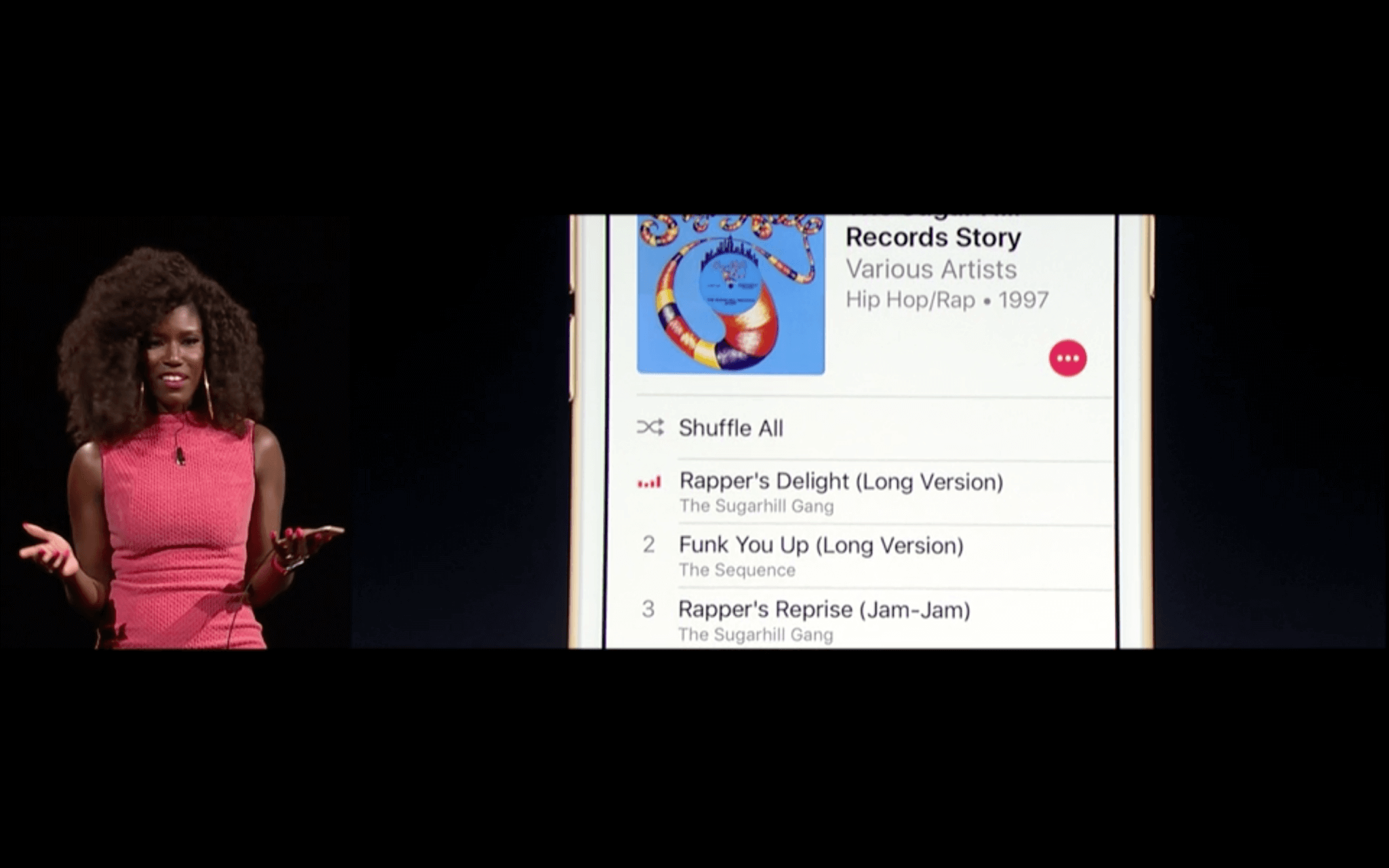 WWDC: Apple Music in komplett neuem Design (Screenshot von Livestream)