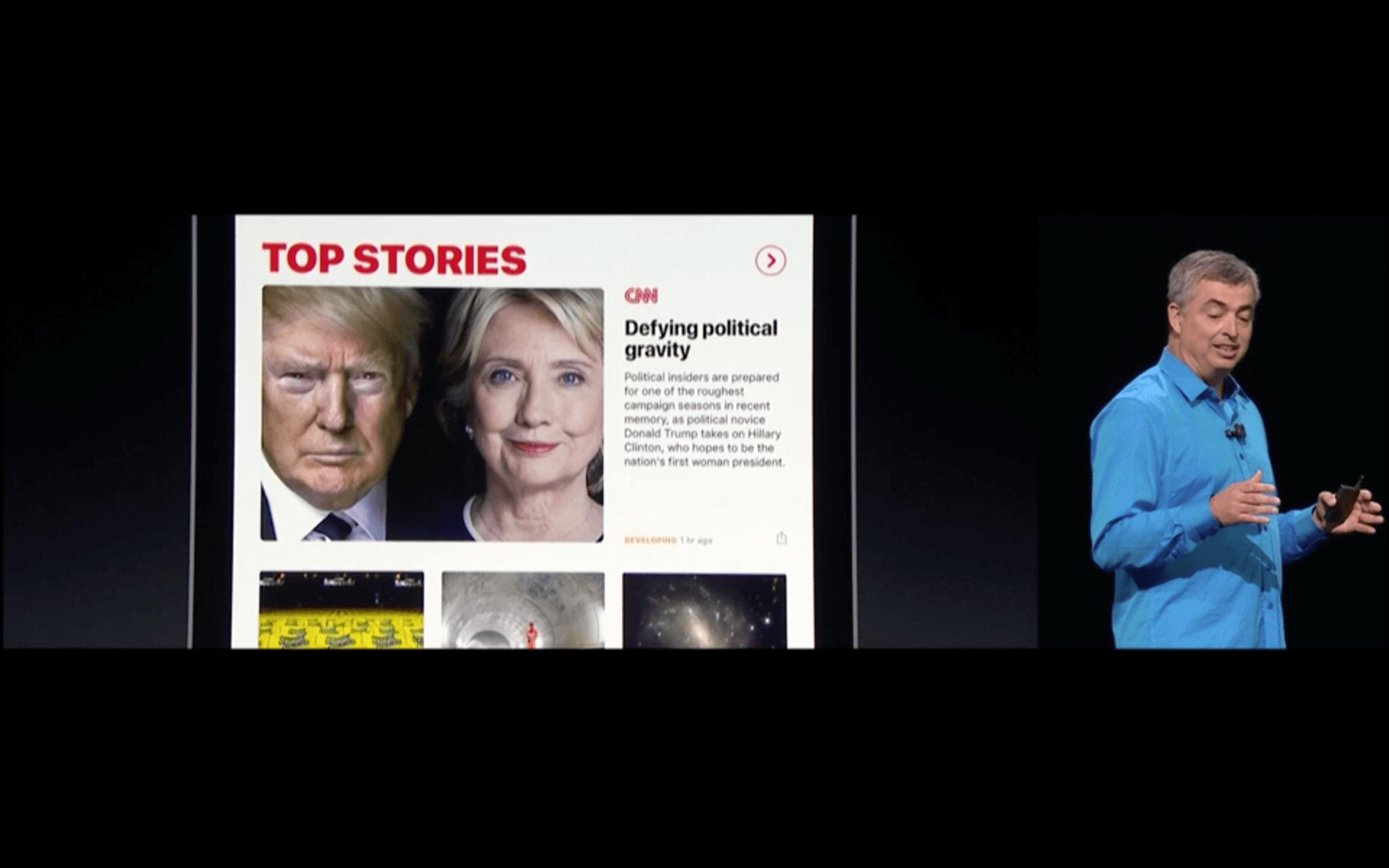 WWDC: Die News-App bietet jetzt auch Zeitschriften-Abos (Screenshot von Apples Livestream)