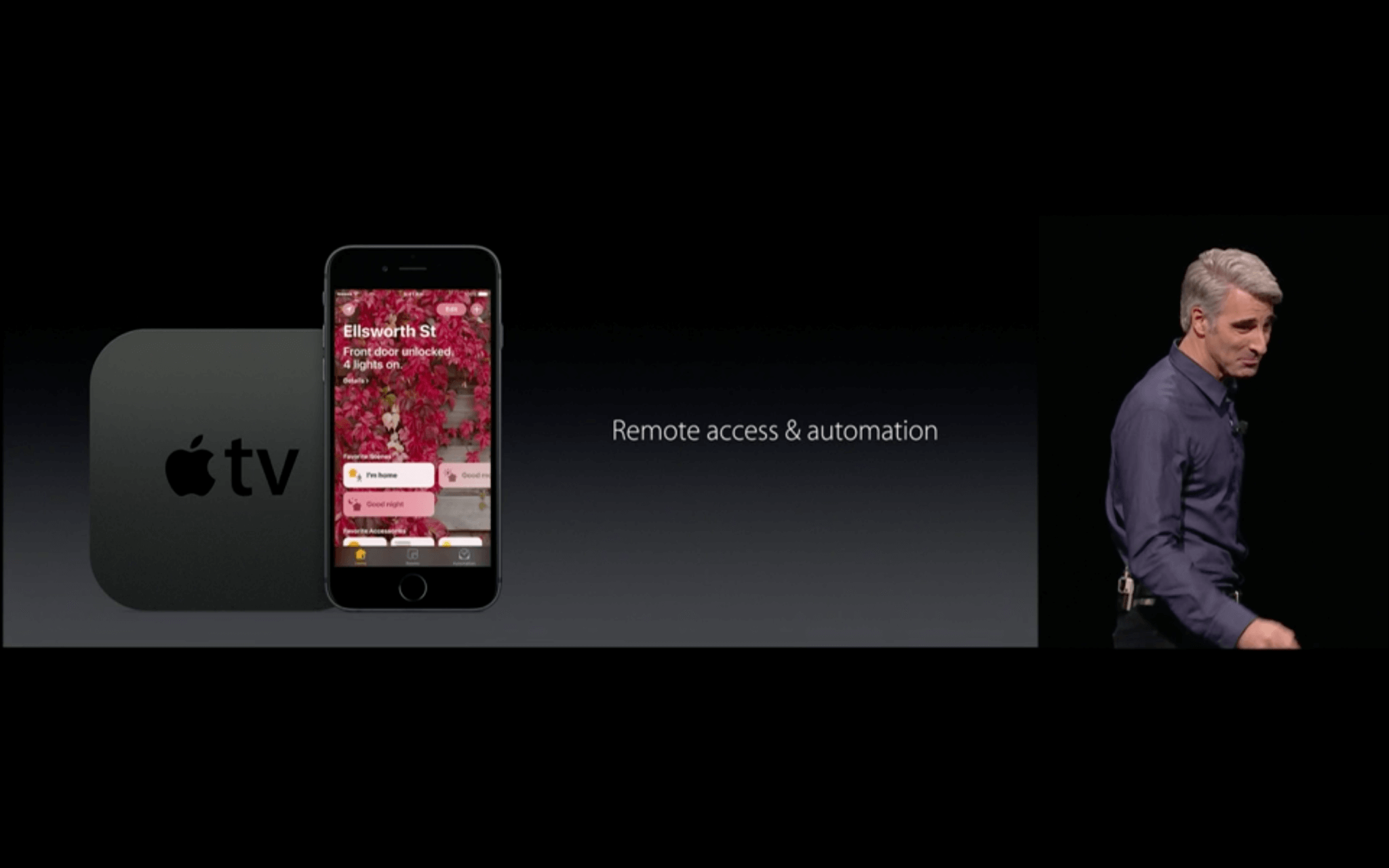 WWDC: Smart Home auf iPhone und Apple TV (Screenshot von Apples Livestream)