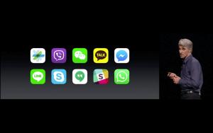 WWDC: Apple öffnet die Nachrichten-App für andere Entwickler (Screenshot aus Apples Livestream)