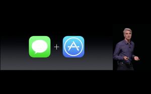 WWDC: Auch die Nachrichten-App wird für Entwickler geöffnet (Screenshot von Apples Livestream)