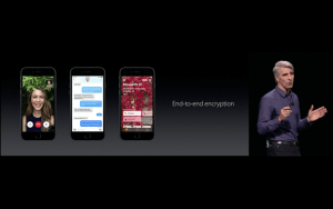 WWDC: Apple setzt bei einer Software auf Ende-zu-Ende-Verschlüsselung (Screenshot aus Apples Livestream)