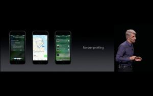 WWDC: Apple erstellt keine Nutzerprofile (Screenshot aus Apple Livestream)