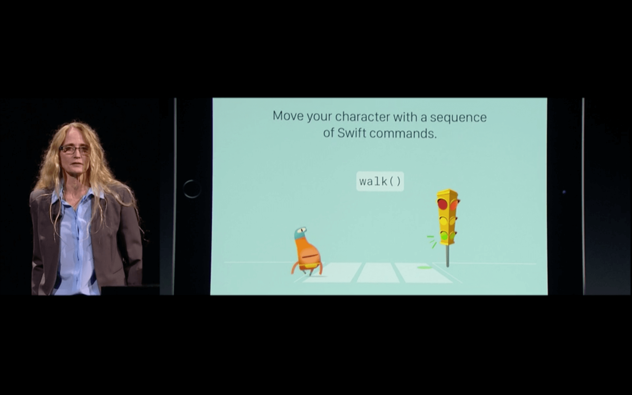 WWDC: Swift Playground kommt kinngerecht daher (Screenshot von Apples Livestream)