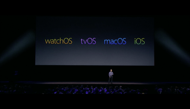 WWDC: Die 4 Säulen des Apple-Ökosystems (Screenshot aus Apples Lifestream)
