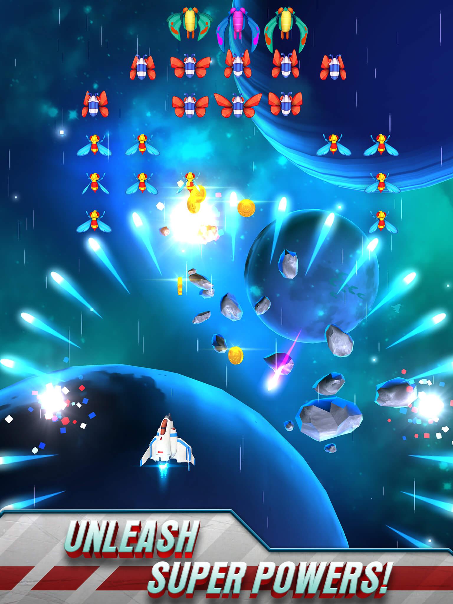 Galaga Wars auf dem iPad (Bildrechte: Namco Bandai)