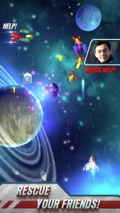 Galaga Wars auf dem iPhone (Bildrechte: Namco Bandai)