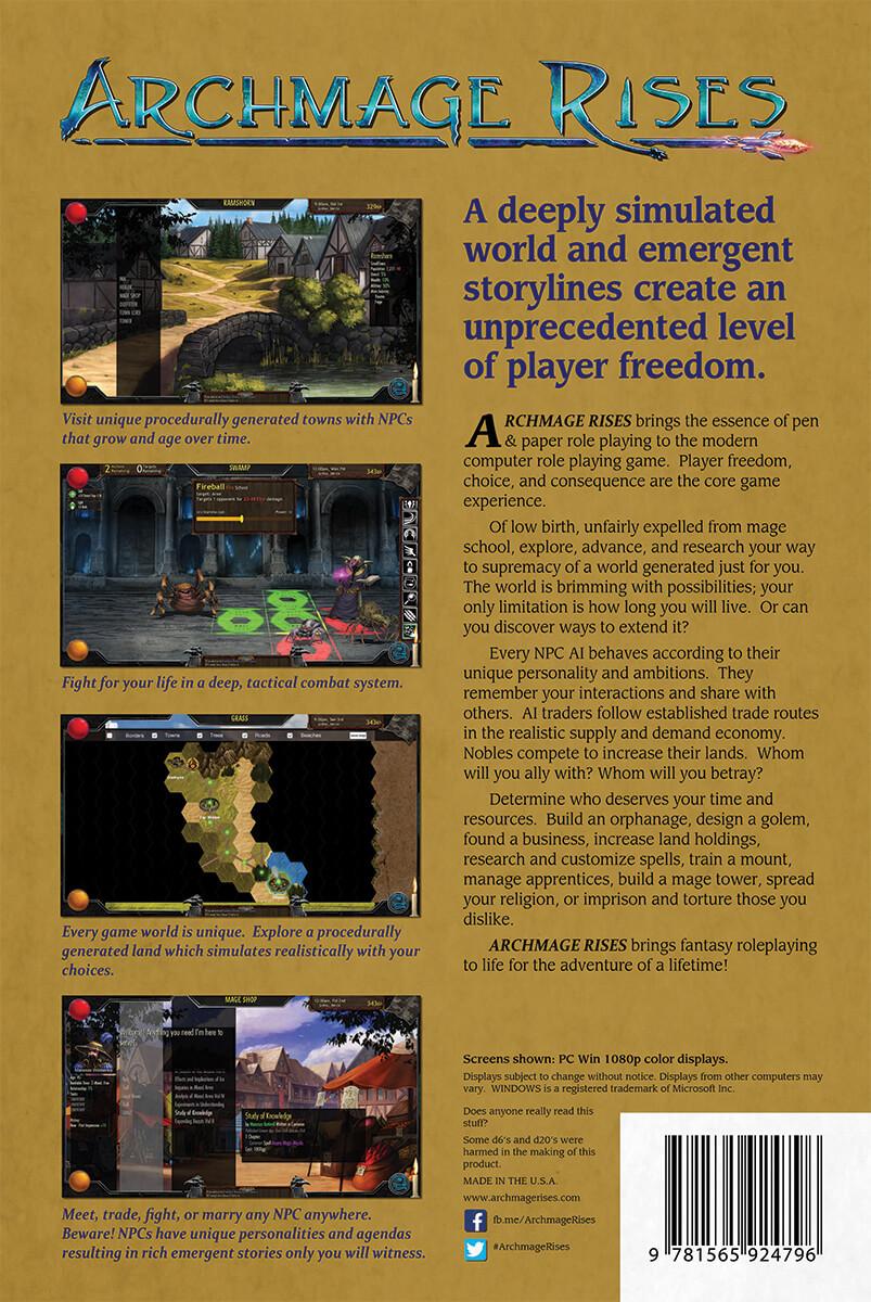 Archmage Rises Goldbox Box Back (Bildrechte bei Defiance Game Studio)