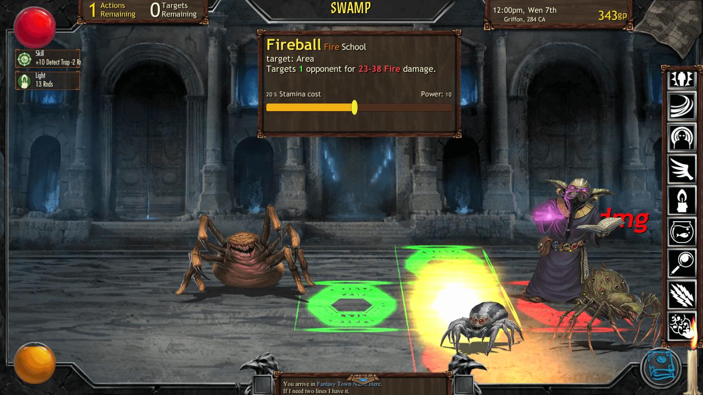 Archmage Rises combat1 (Bildrechte bei Defiance Game Studio)