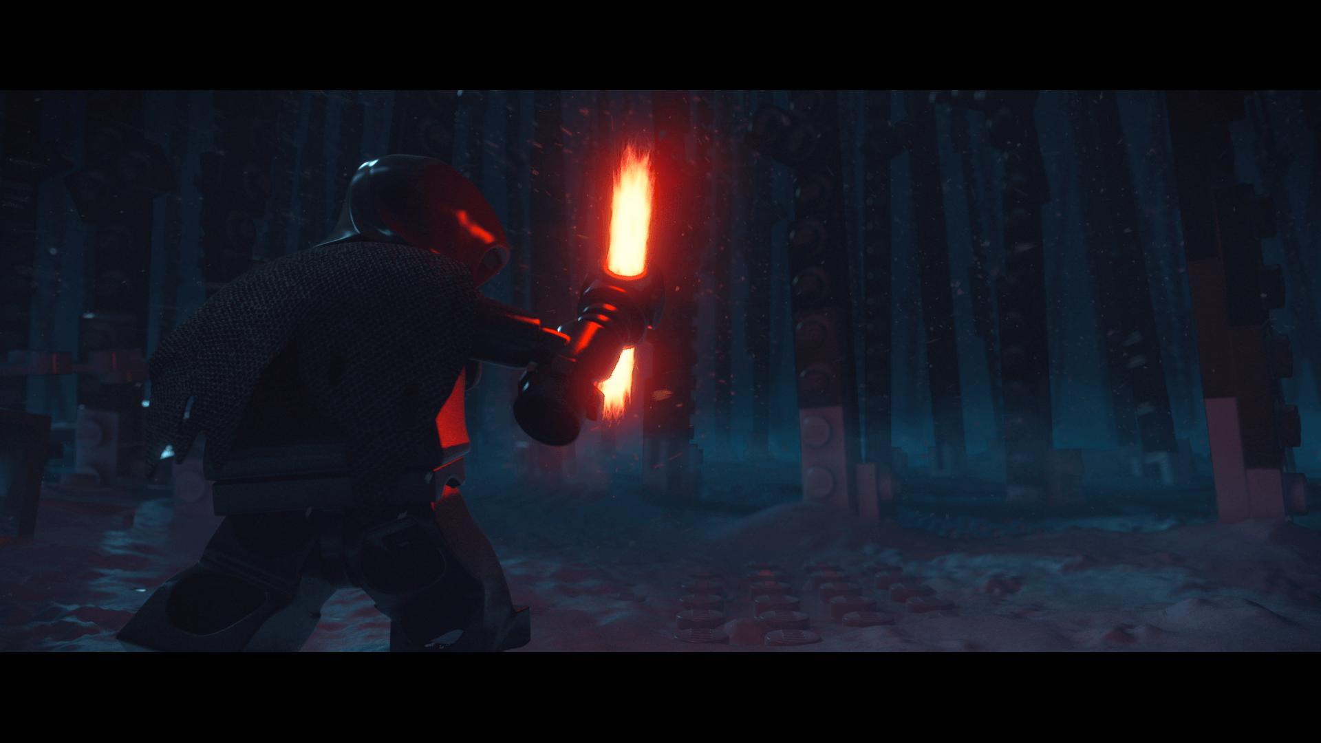 Lego Star Wars: The Force Awakens: Klo Ren geht ein Licht(schwert) auf (Bildrechte: Feral Interactive)