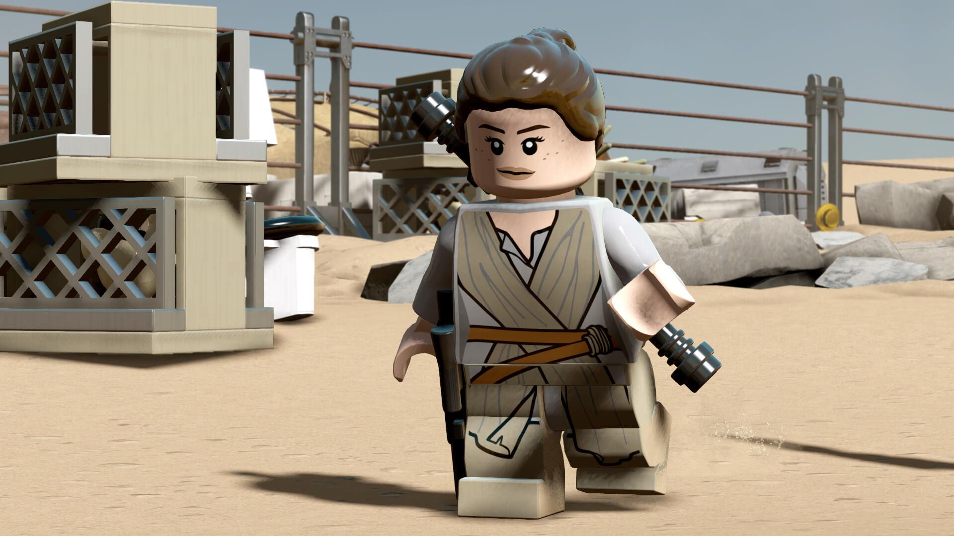 Die Heldin aus Lego Star Wars: The Force Awakens (Bildrechte: Feral interactive)