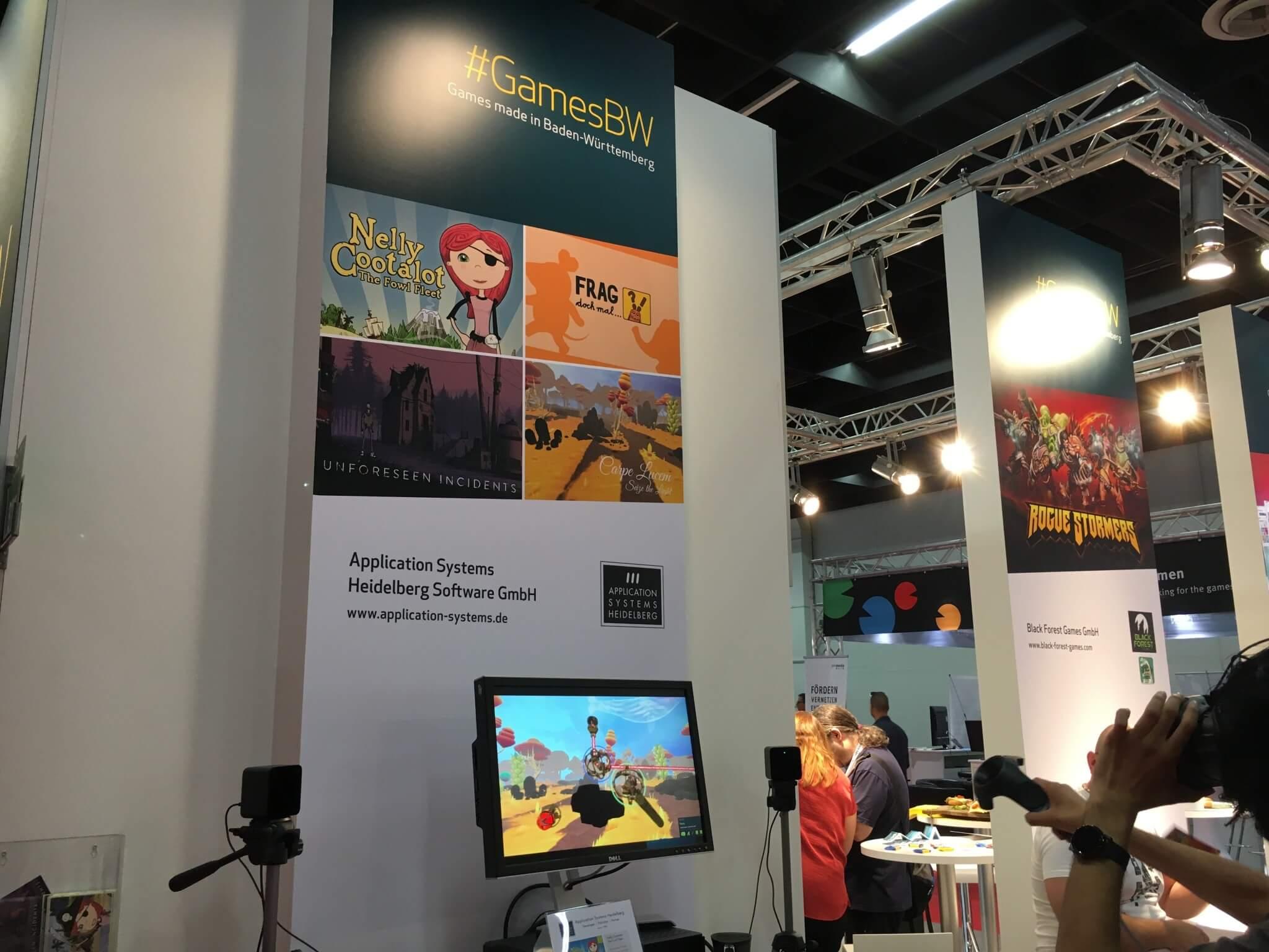 Gamescom 2016: Bei Application Systems Heidelberg gab es mit Cape Lucem auch ein interessantes VR-Spiel (nur Windows) zu sehen