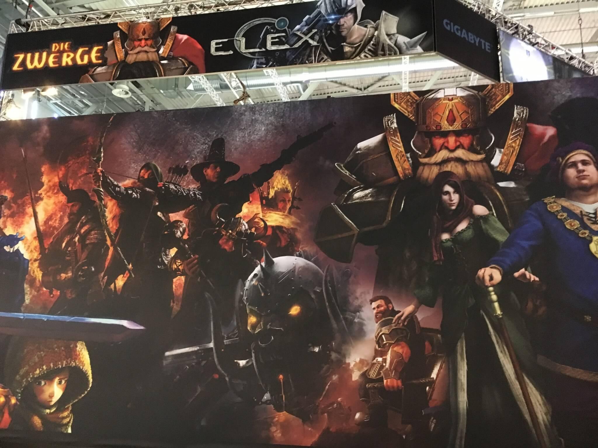 """Gamescom 2016: Den Fantasy-Titel """"Die Zwerge"""" nach der Buchreihe von Markus Heitz gab es am Stand von THQ Nordic zu sehen"""