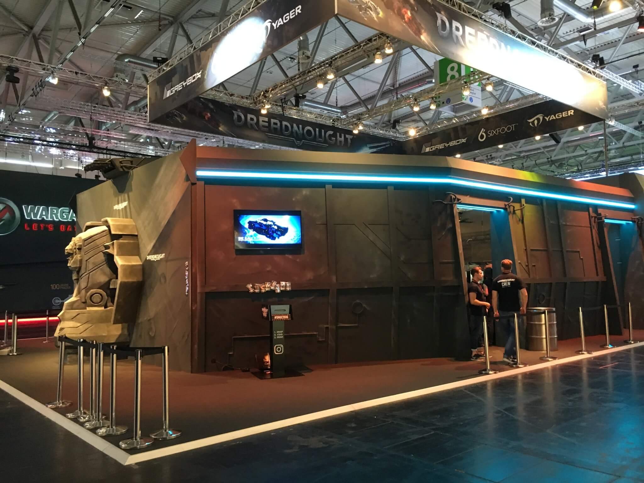 Gamescom 2016: Einige Messestände waren aufwendig gestaltet – hier: Dreadnought