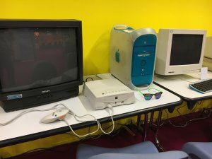 Gamescom 2016: In der Retro-Ausstellung gab es auch alte Apple-Systeme zum Anschauen und Anfassen