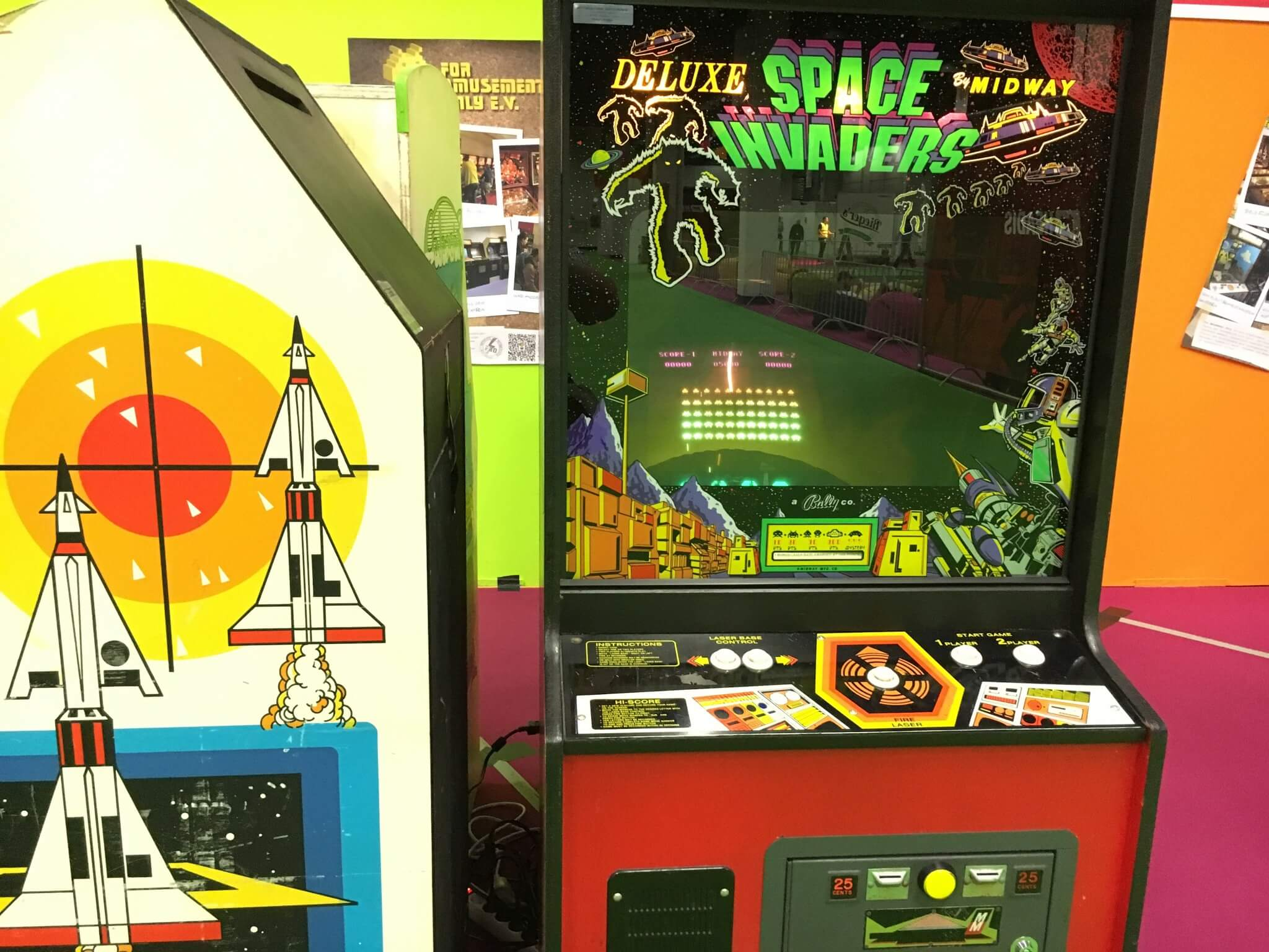 Gamescom 2016: ein Space-Invaders-Automat