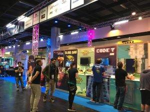 Gamescom 2016 – am Fachbesuchertag gab es noch keinen Andrang an der Indie Arena Booth