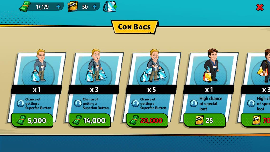 Con Man – The Game: Die Convention Bags bieten viele Überraschungen, kosten aber Einiges