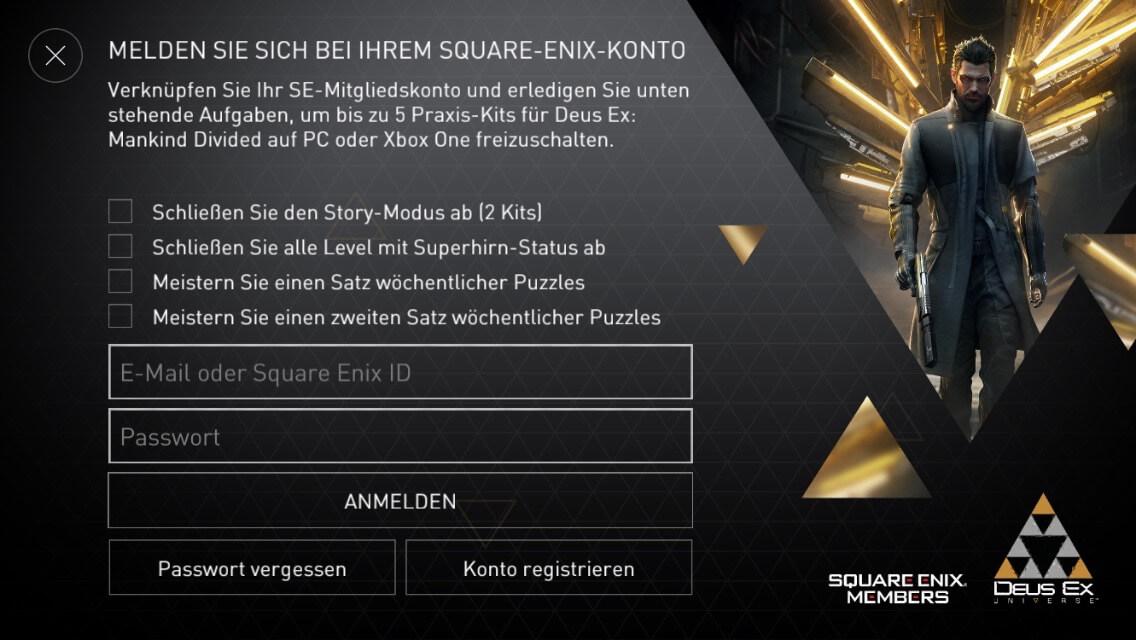 Spielen auf dem iPhone bringt auch Vorteile auf Konsole und PC (Deus Ex Go)