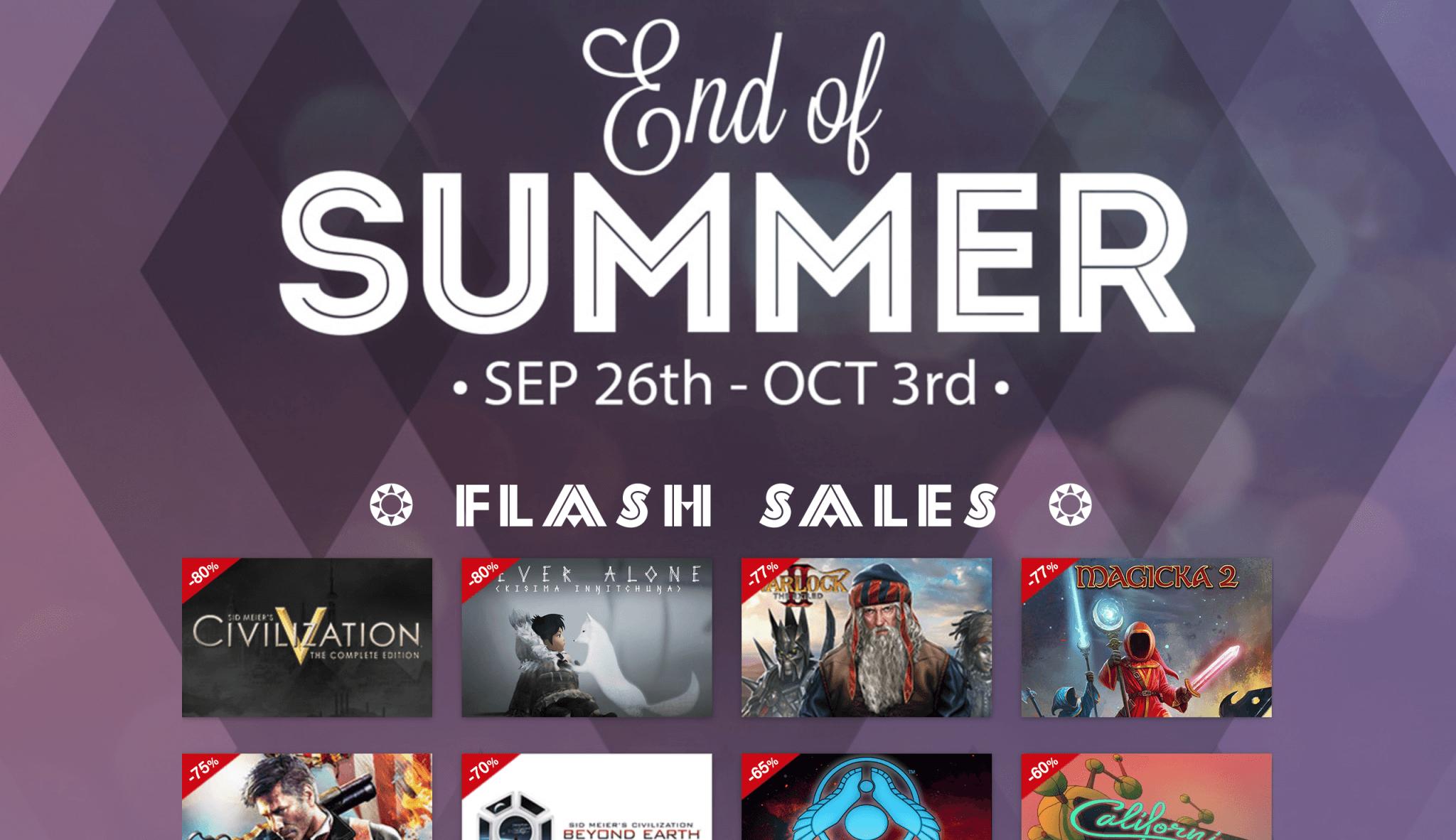 End of Summer Sale 2016 im MacGameStore (Bildschirmfoto von www.macgamestore.com)