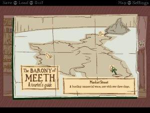 Nelly Cootalot: Spoonbeaks Ahoy! – natürlich gehört zu einem Piratenspiel auch eine Karte (Bildrechte: Application Systems Heidelberg)