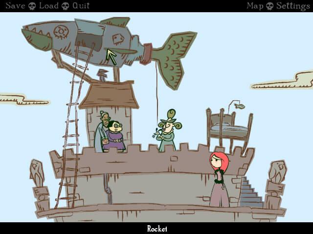 Nelly Cootalot: Spoonbeaks Ahoy! – zu einem Piratenspiel gehört natürlich auch eine Rakete…öhm… (Bildrechte: Application Systems Heidelberg)