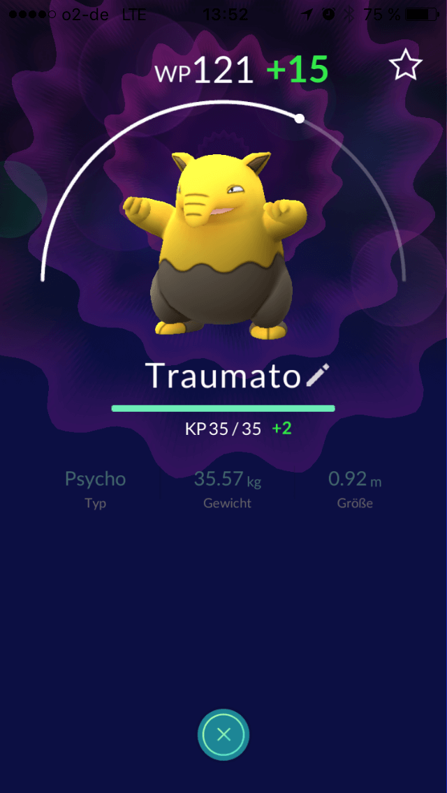 Pokémon Go: Traumato ist vom Psycho-Typ