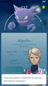 Pokémon Go: Alpollo ist ein Geist-Pokémon