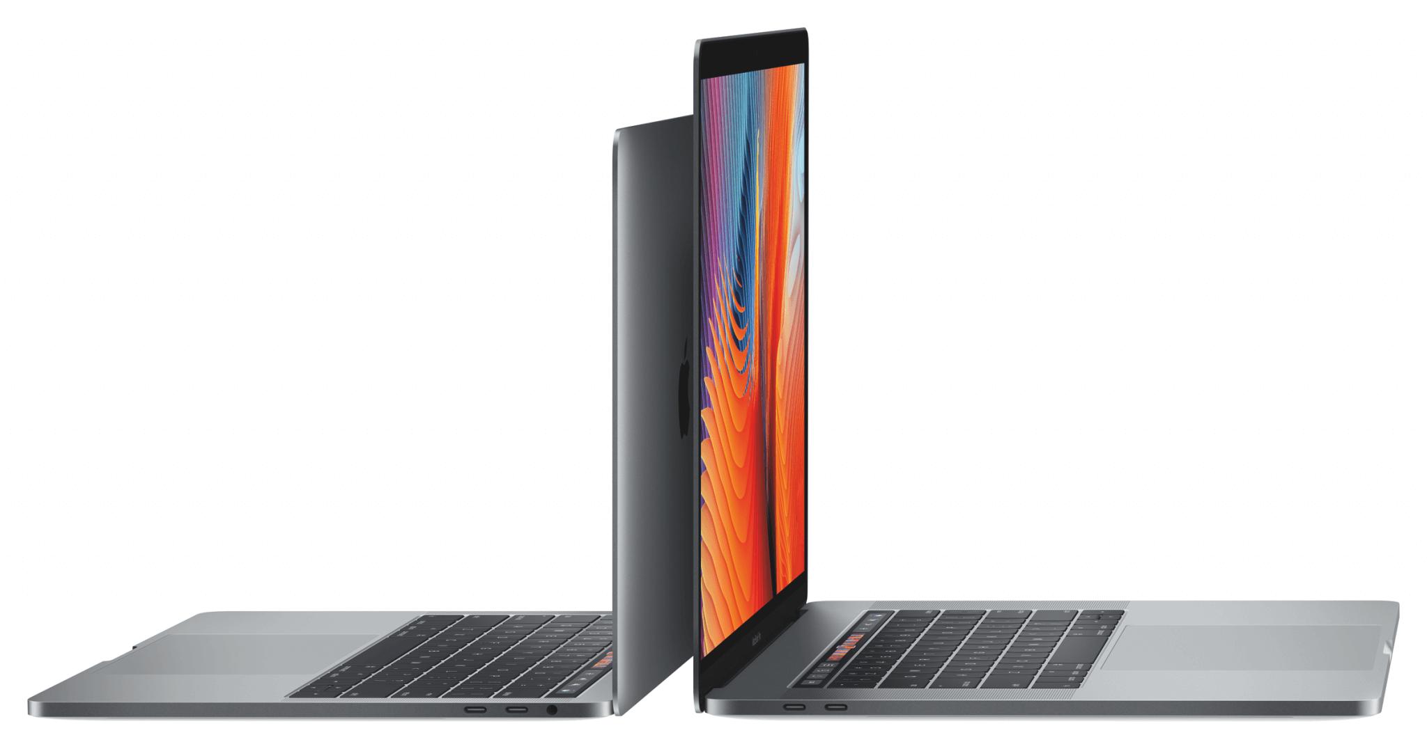 MacBook Pro 2016 mit Touch Bar, links 13-Zoll, rechts 15-Zoll (Bildrechte: Apple)