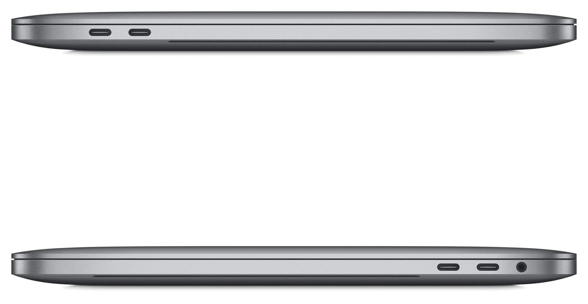 MacBook 2016 in Space Grau, links mit 2 Thunderbolt-Anschlüssen, rechts zusätzlich mit Kopfhörer-Buchse (Bildrechte: Apple)